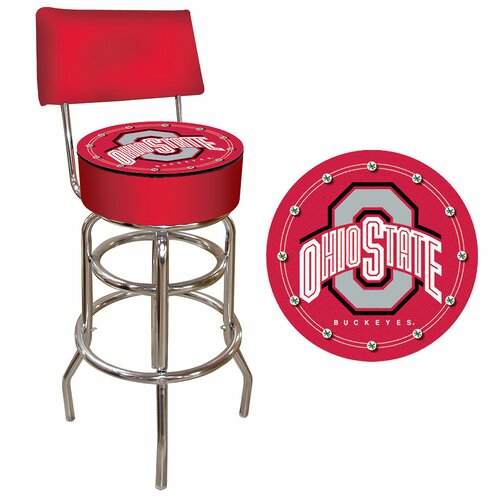 Trademark Global NCAA Swivel Bar Stool with Cushion