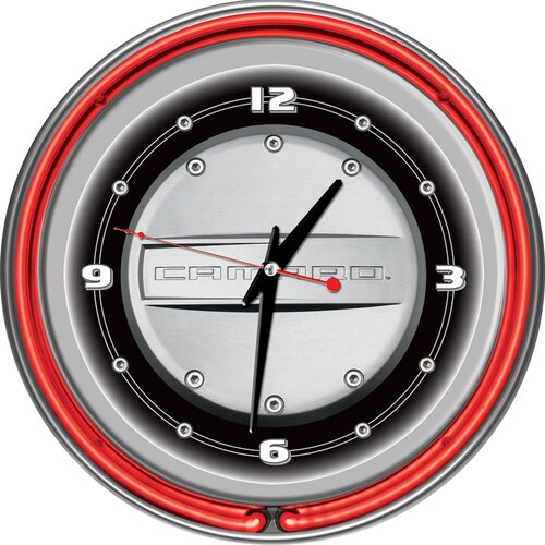 "Trademark Global 14"" Camaro Double Ring Wall Clock"