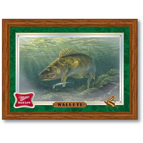 Trademark Global Miller High Life Walleye Reflective Framed Graphic Art