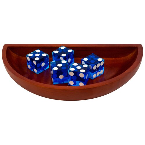 Trademark Global Craps Wooden Dice Boat in Blue