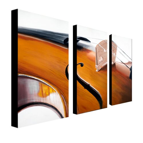 Trademark Global Music Store II by Roderick Stevens 3 Piece Photographic Print Set