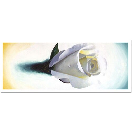 Trademark Global Lovely Rose by Roderick Stevens Painting Print on Canvas