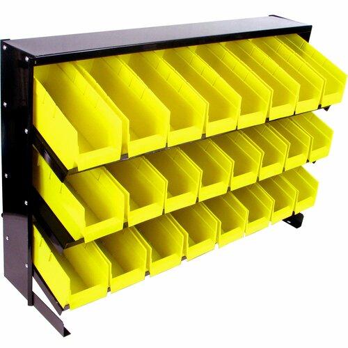 Trademark Global 24 Bin Parts Storage Rack Trays