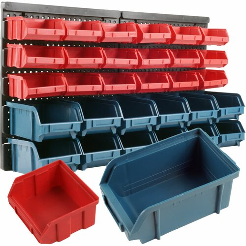 30 Drawer Wall Mounted Parts Rack