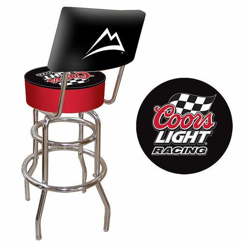Coors Light Racing Bar Stool with Cushion