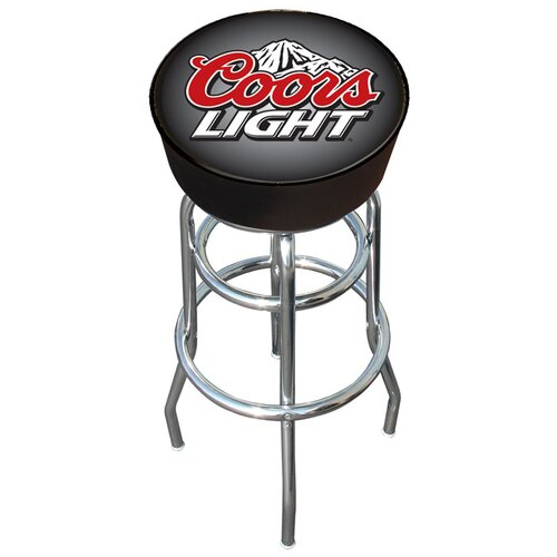 "Trademark Global 30"" Coors Light Bar Stool with Cushion"