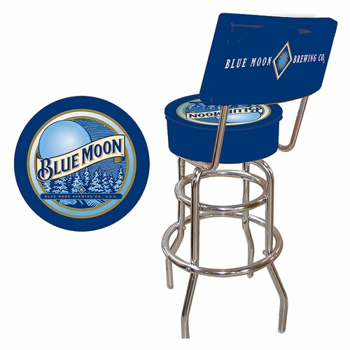 Trademark Global Blue Moon Bar Stool with Cushion