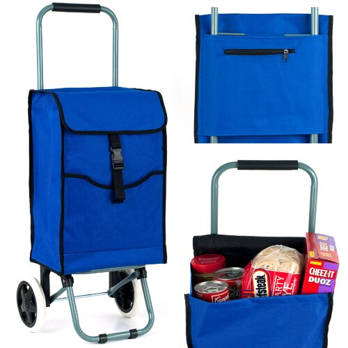 Trademark Global 3 Compartments Portable Shopping Tote
