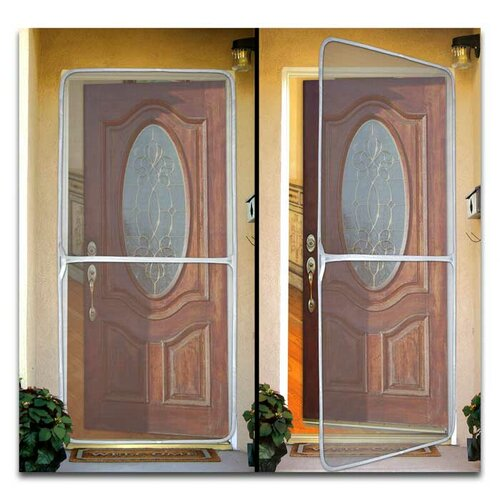 Bug off french reversible instant screen door reviews for French door mosquito screen
