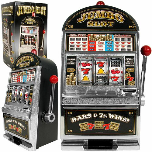 Trademark Global Jumbo Slot Machine Bank - Replication