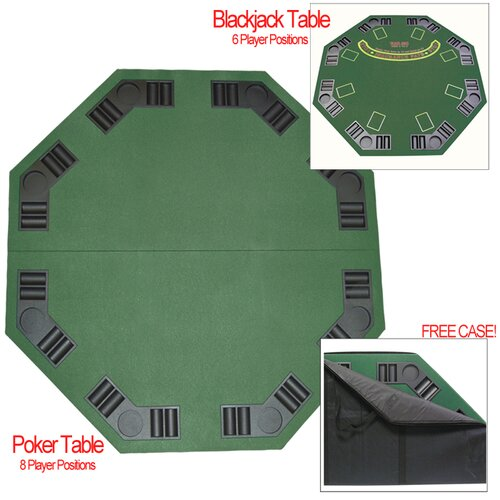 Trademark Global Deluxe Poker and Blackjack Table Top with Case