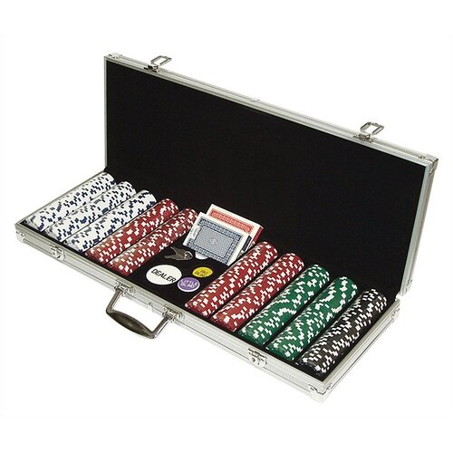 Trademark Global 500 Dice Style Poker Chip Set