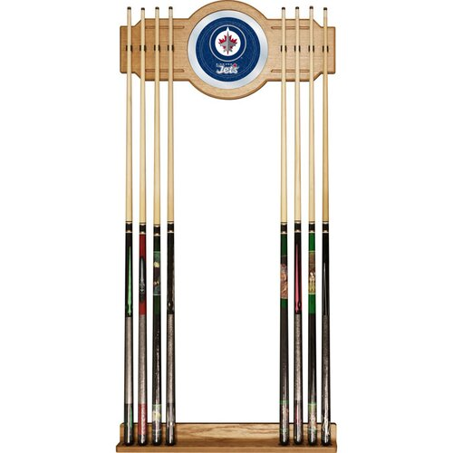 Trademark Global NHL Winnipeg Jets 2 piece Wood and Mirror Wall Cue Rack