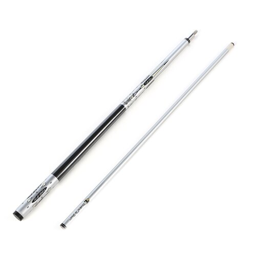 Trademark Global Titanium Billiards Cue in Metallic Silver