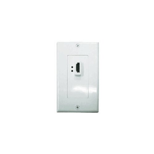 Comprehensive Single Gang Decora Wall Plate in White (HDMI Female(1)- Passthru)