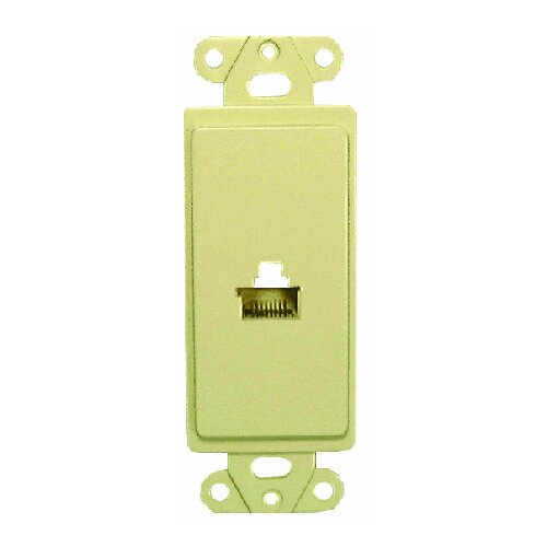 Comprehensive Single Gang Wall Plate (RJ45(1) Passthru)