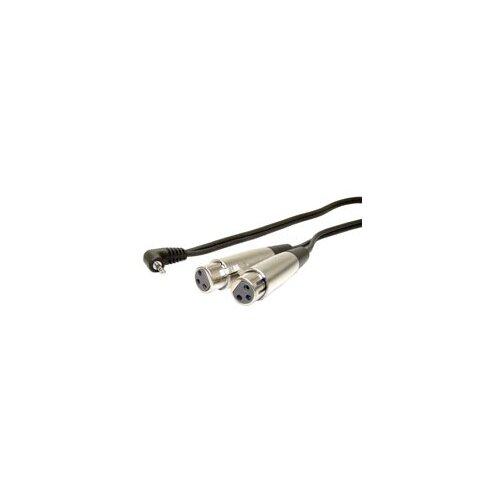 "Comprehensive 60"" Standard Series General Purpose Right Angle Stereo Mini To 2 x LR Female"