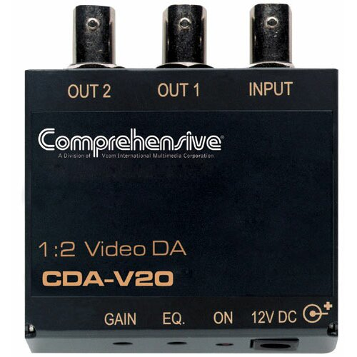Comprehensive 1 x 2 Composite Video Distribution Amplifier