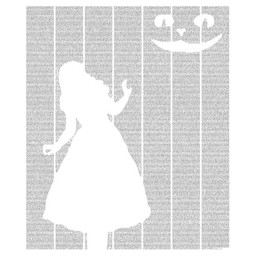 Postertext Alice's Adventures in Wonderland Framed Graphic Art