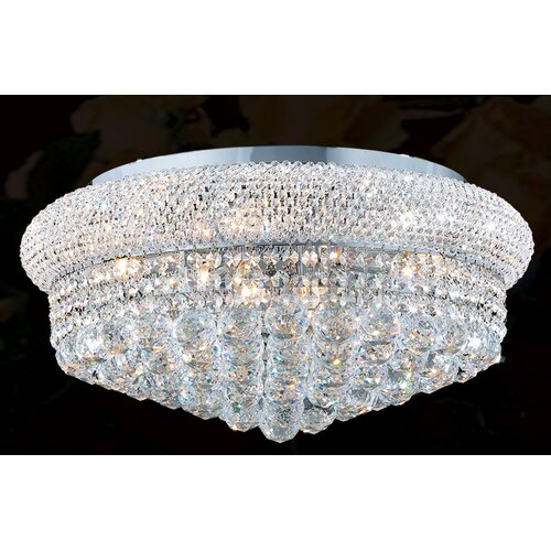 Worldwide Lighting Empire 10 Light Flush Mount