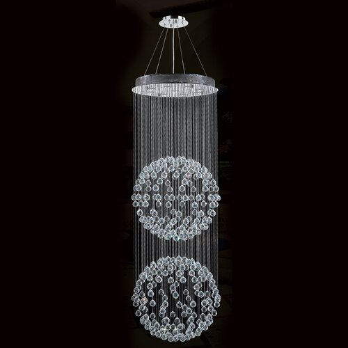 Saturn 9 Light Crystal Chandelier