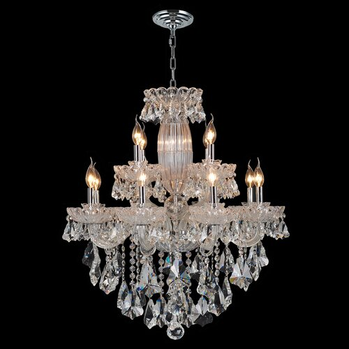 Olde World 12 Light Crystal Chandelier