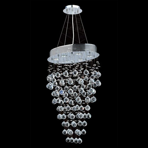 Icicle 6 Light Crystal Chandelier