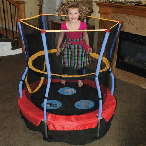 "Skywalker Trampolines Zoo Adventure Bouncer 48"" Trampoline with Enclosure"