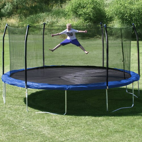 Kidwise Jumpfree 15 Ft Trampoline And Safety Enclosure: Skywalker 17' X 15' Oval Trampoline With Safety Enclosure