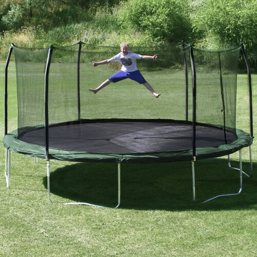 Skywalker Trampolines 17' x 15' Oval Trampoline with Safety Enclosure