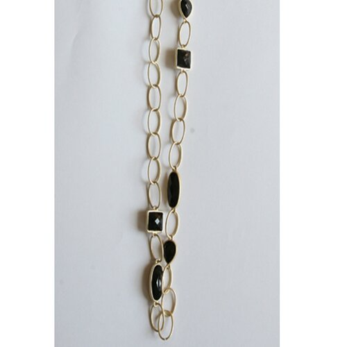 Zirconmania Goldtone Large Link Necklace