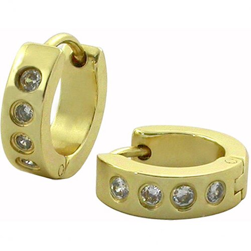 Trendbox Jewelry Cubic Zirconia Huggie Earrings
