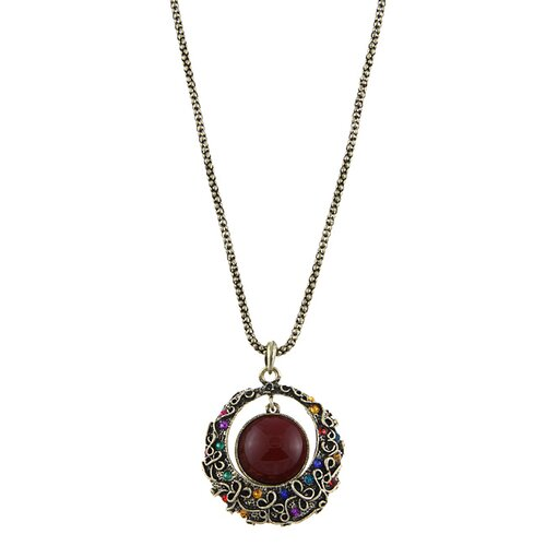 Trendbox Jewelry Crystal Drop Pendant Necklace