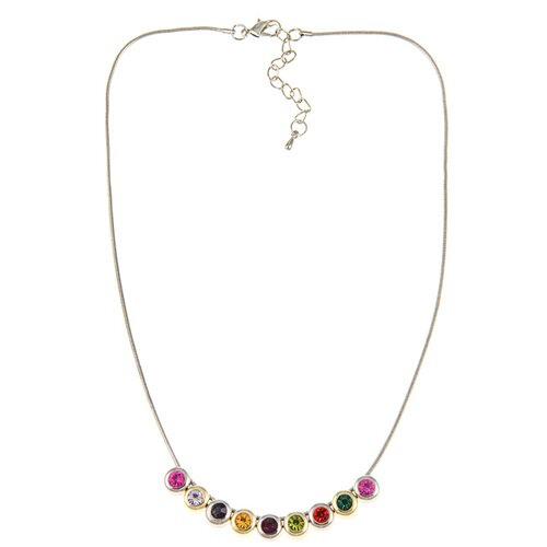 Two-tone Crystal Slide Necklace
