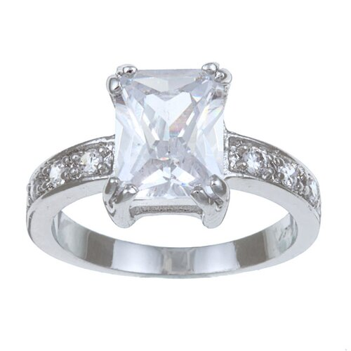 Trendbox Jewelry Cubic Zirconia Emerald Cut Ring