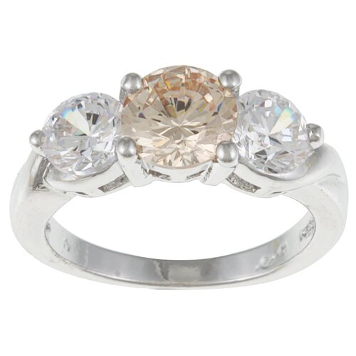 Three Stone Cubic Zirconia Ring