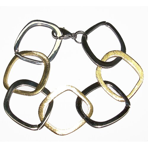 Trendbox Jewelry Two-tone Square Link Bracelet