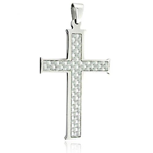 Carbon Fiber Cross Necklace