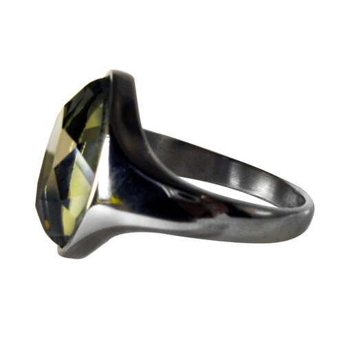 Trendbox Jewelry Marquise-Shaped Glass Band Ring