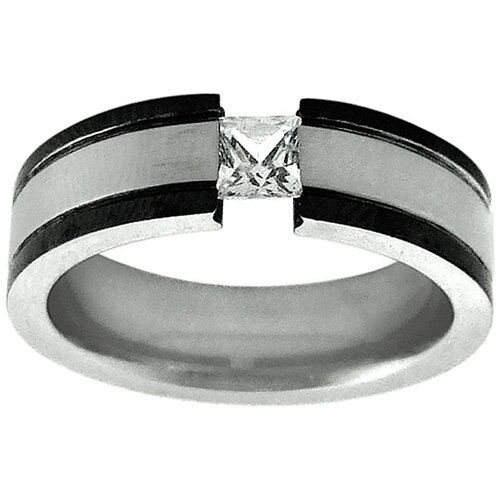 Tension-set Cubic Zirconia Band Ring