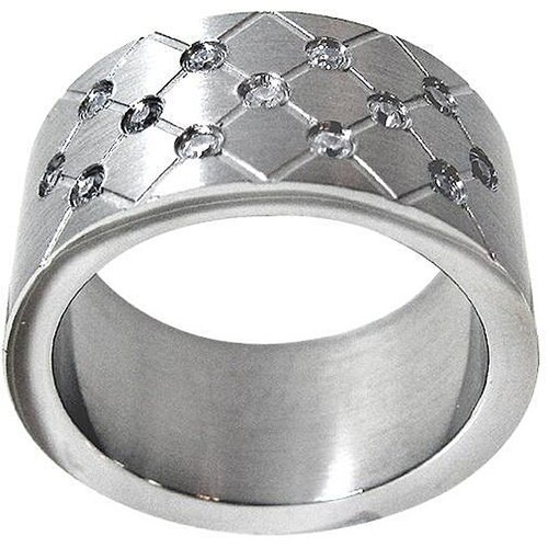 Trendbox Jewelry Cubic Zirconia Quilted Design Band Ring