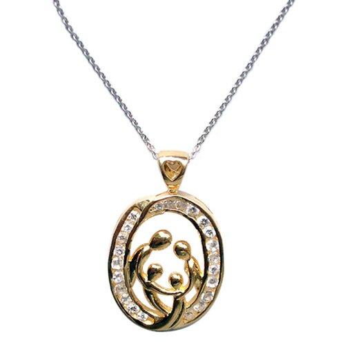 Trendbox Jewelry Cubic Zirconia Family Celebration Necklace Pendant