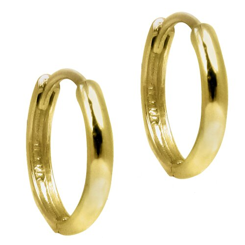 Rounded Mini-Hoop Earrings