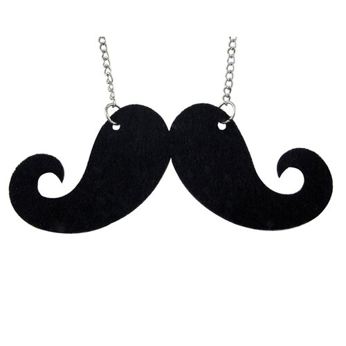 Trendbox Jewelry Felt Mustache Necklace