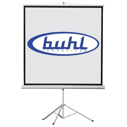 Buhl Matte White Portable Projector Screen