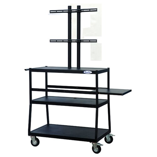 Buhl Flat Panel AV Cart with Locking Cabinet