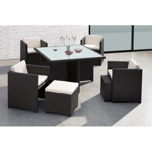 dCOR design Naples 9 Piece Dining Set