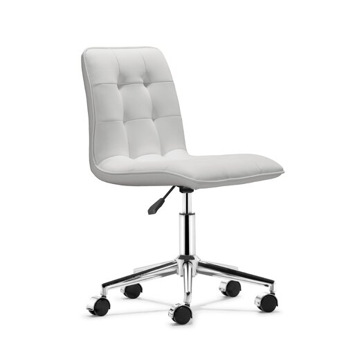dCOR design Mid-Back Leather Scout Leatherette Office Chair