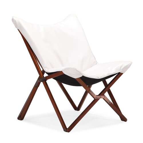 dCOR design Draper Leatherette Lounge Chair