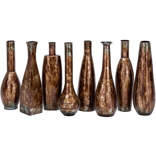 Woodland Imports Metal 8 Piece Vase Set